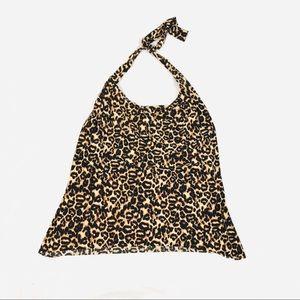 Magic suit Sophie loose halter tankini top leopard